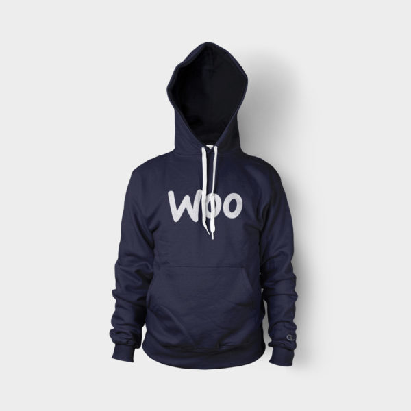 hoodie blue logo front